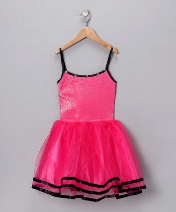 Fuchsia & Black Dress - Toddler & Girls