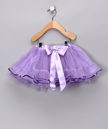 Lilac Sequin Chiffon Tutu - Toddler & Girls