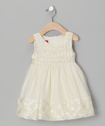 Ivory Bead Dress - Girls