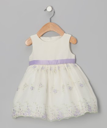 Princess Faith Lilac Floral Dress - Infant, Toddler & Girls