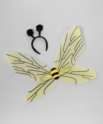 Yellow & Black Beatrice the Bee Wings & Headband