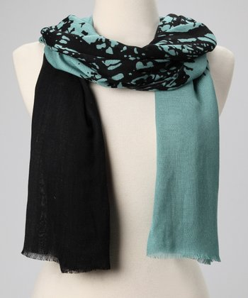 Blue & Black Tree of Life Scarf