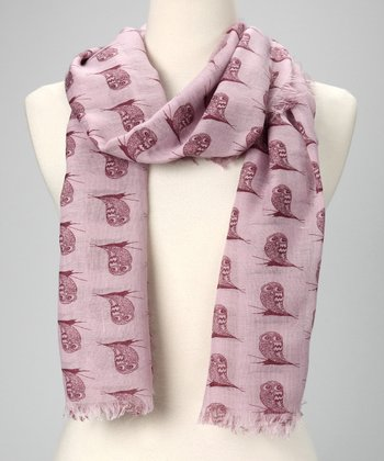 Purple 24 Owls a Day Scarf
