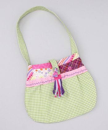 Green Gingham Purse