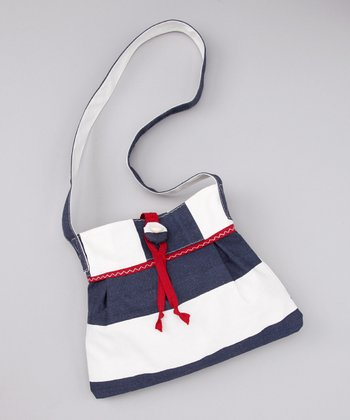 Navy & White Purse