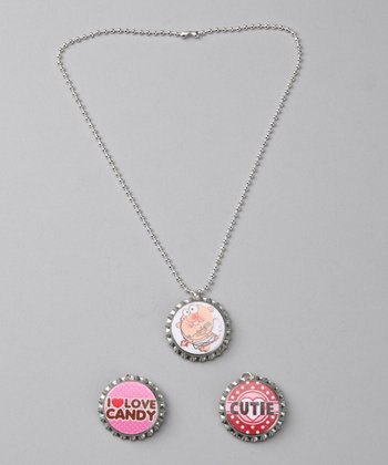 Prissy Pop Tops 'Cupid's Cutie' Bottle Cap Necklace Set