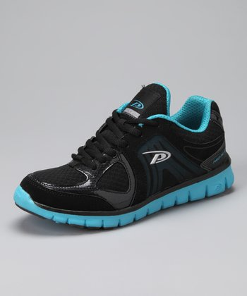 Black & Blue Torch Running Shoe - Women