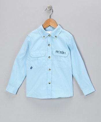 Blue Sun Protection Button-Up - Infant & Toddler
