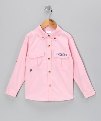 Pink Sun Protection Button-Up - Infant & Toddler