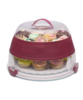Collapsible Cupcake & Cake Carrier