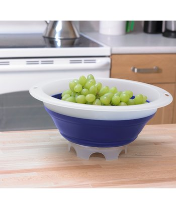 Blue 5-Qt. Collapsible Colander