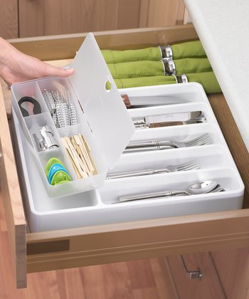 Cutlery Organizer & Removable Container