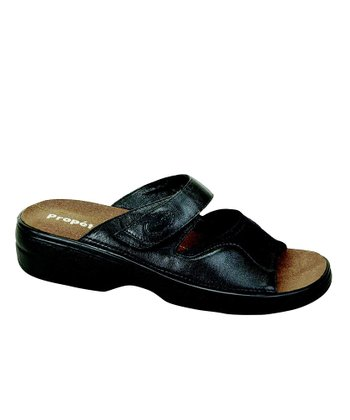 Nappa Black Edgewater Walker Slide