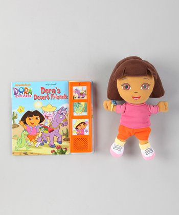 Dora's Desert Friends Board Book & Plush Toy