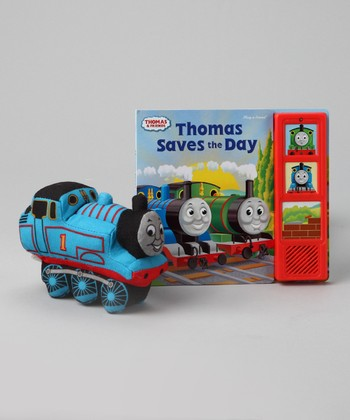 Thomas Saves the Day Board Book & Plush Toy