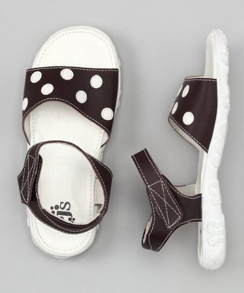 Chocolate & White Polka Dot Sandal