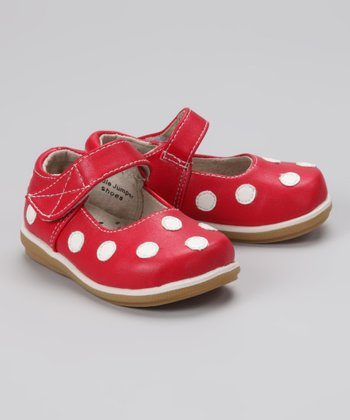 Cherry & White Polka Dot Mary Jane