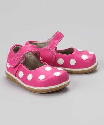 Hot Pink & White Polka Dot Mary Jane