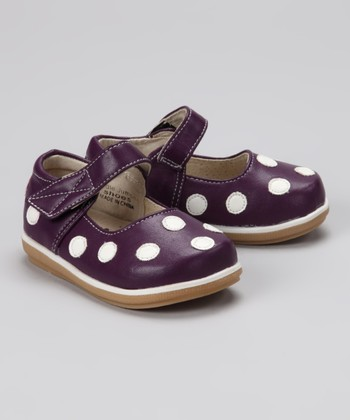 Purple & White Polka Dot Mary Jane