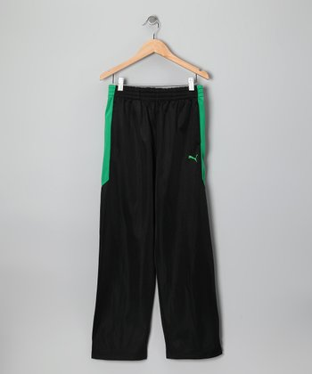 Black & Green Tricot Track Pants - Toddler & Boys