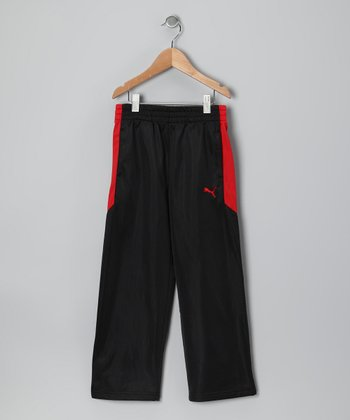 Black Tricot Track Pants - Toddler & Boys