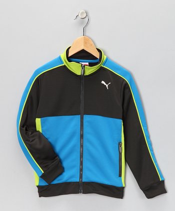 Black & Blue Track Jacket - Toddler & Boys