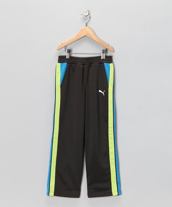 Black & Yellow Track Pants - Toddler