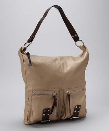 Tan Zipper Hobo