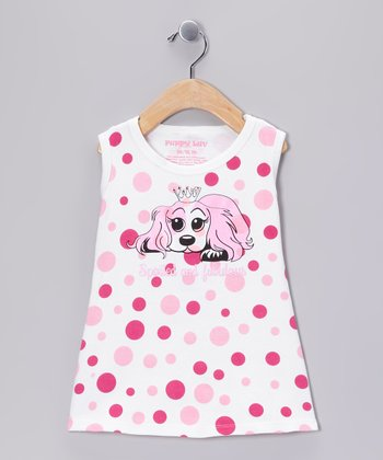 Pink Polka Dot 'Spoiled and Fabulous' Dress - Infant