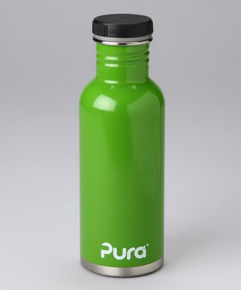 Green Stainless Steel 20-Oz. Flat-Cap Bottle
