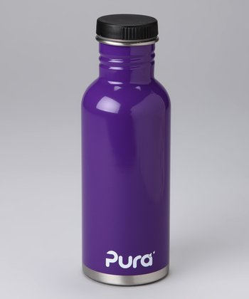 Purple Stainless Steel 20-Oz. Flat-Cap Bottle