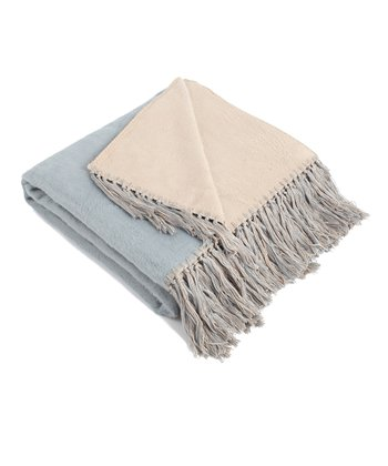 Blue & Barley Brushed Throw