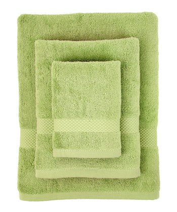 Light Green Organic Bath Towel Set