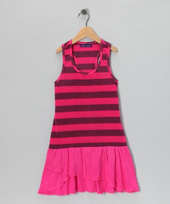 Pink Stripe Drop-Waist Dress