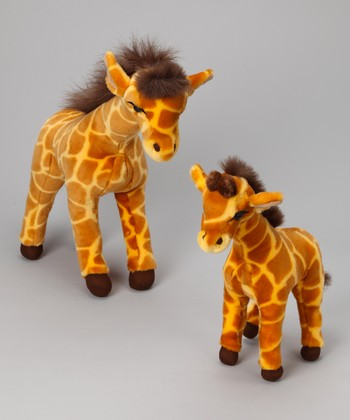 Safari & Baby Safari Giraffe Plush Toy Set