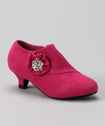 Fuchsia Holiday Bootie