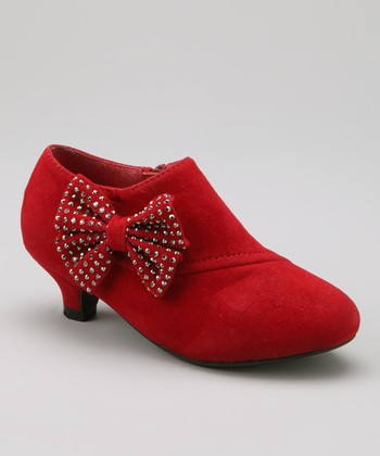 Red Holiday Bootie