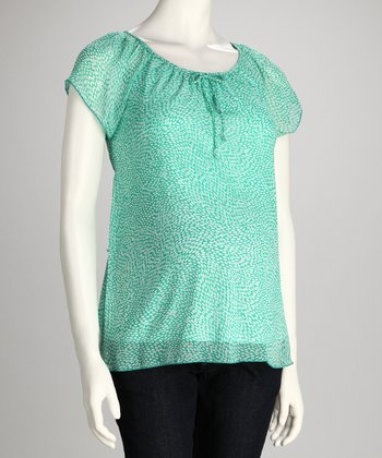 Aqua Maternity Angel-Sleeve Top