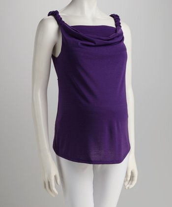 Purple Nursing Cowl Neck Tank