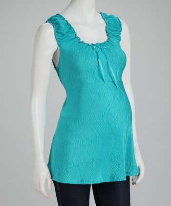 Jade Ribbon Maternity Sleeveless Top