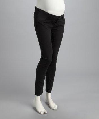 Black Denim Under-Belly Maternity Jeans
