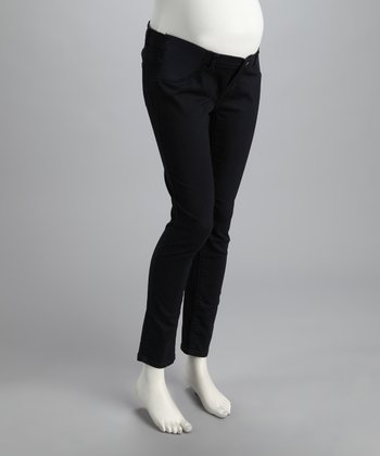 Navy Denim Under-Belly Maternity Jeans