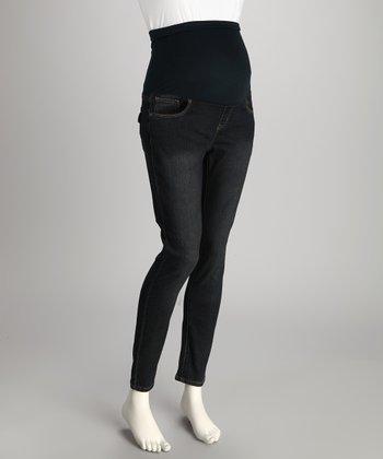 Dark Wash Denim Maternity Skinny Jeans