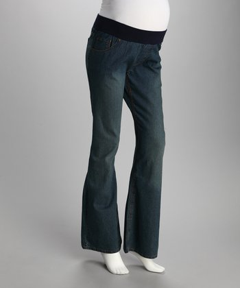 Medium Blue Under-Belly Maternity Jeans