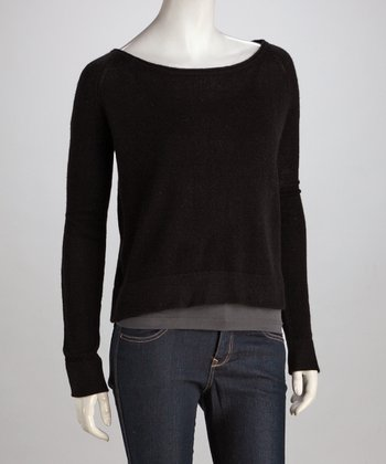 Black Roger Square Cashmere Sweater