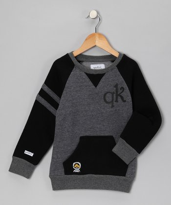 Black Crewneck Sweatshirt - Toddler & Boys