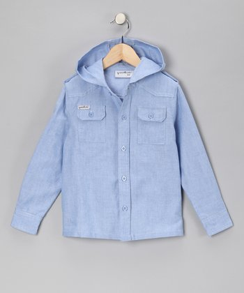 Blue Paperboy Chambray Button-Up - Toddler & Boys
