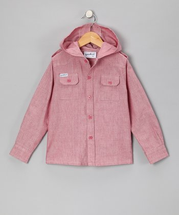 Red Paperboy Chambray Button-Up - Toddler & Boys