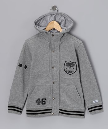 Questkids Gray '46' Hooded Jacket - Toddler & Boys