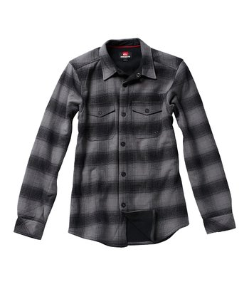 Gray Plaid Cruiser Button-Up - Toddler & Boys